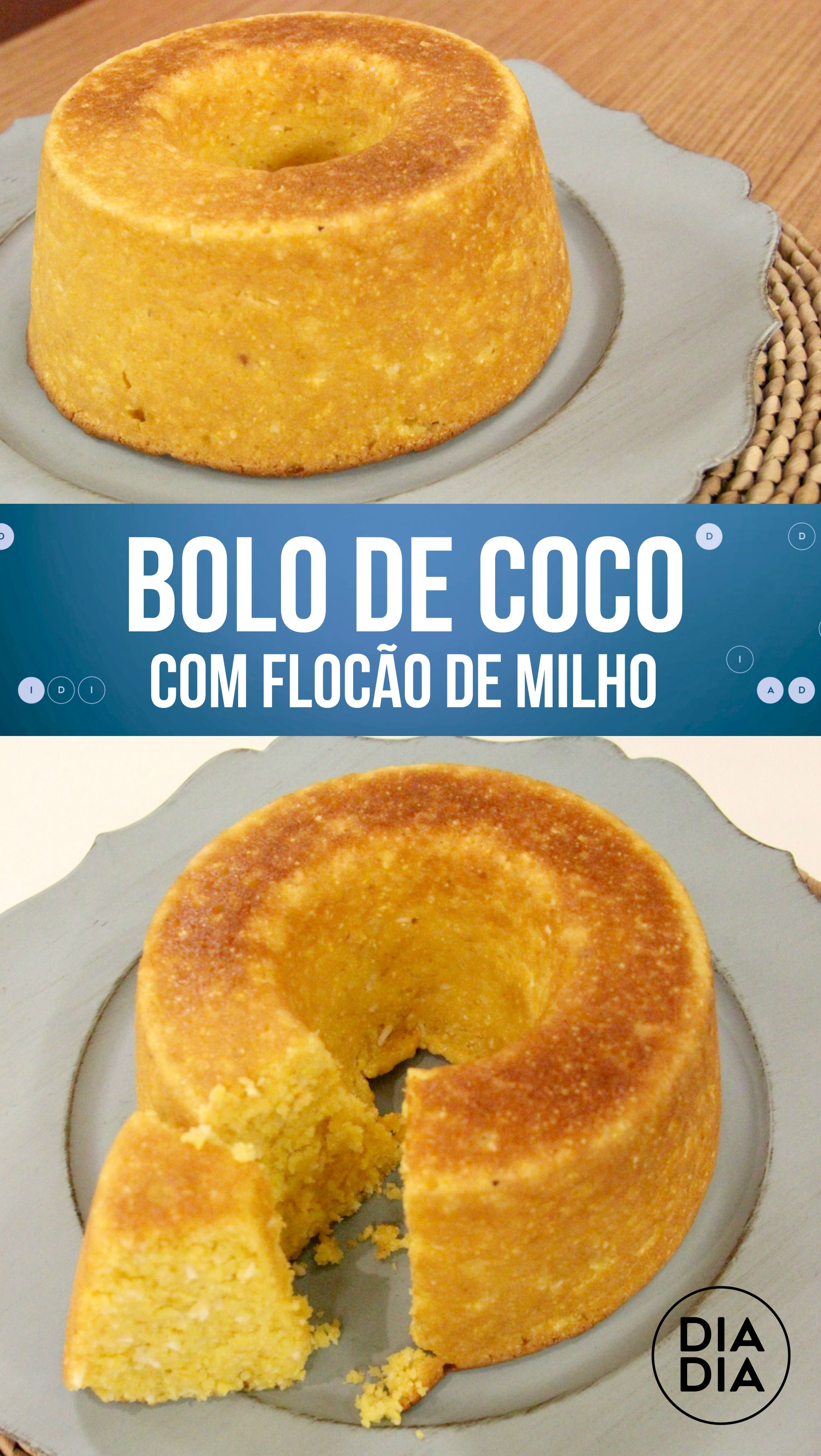 Bolo De Flocao De Milho Com Coco Ideias Receitas Bolo De Flocao
