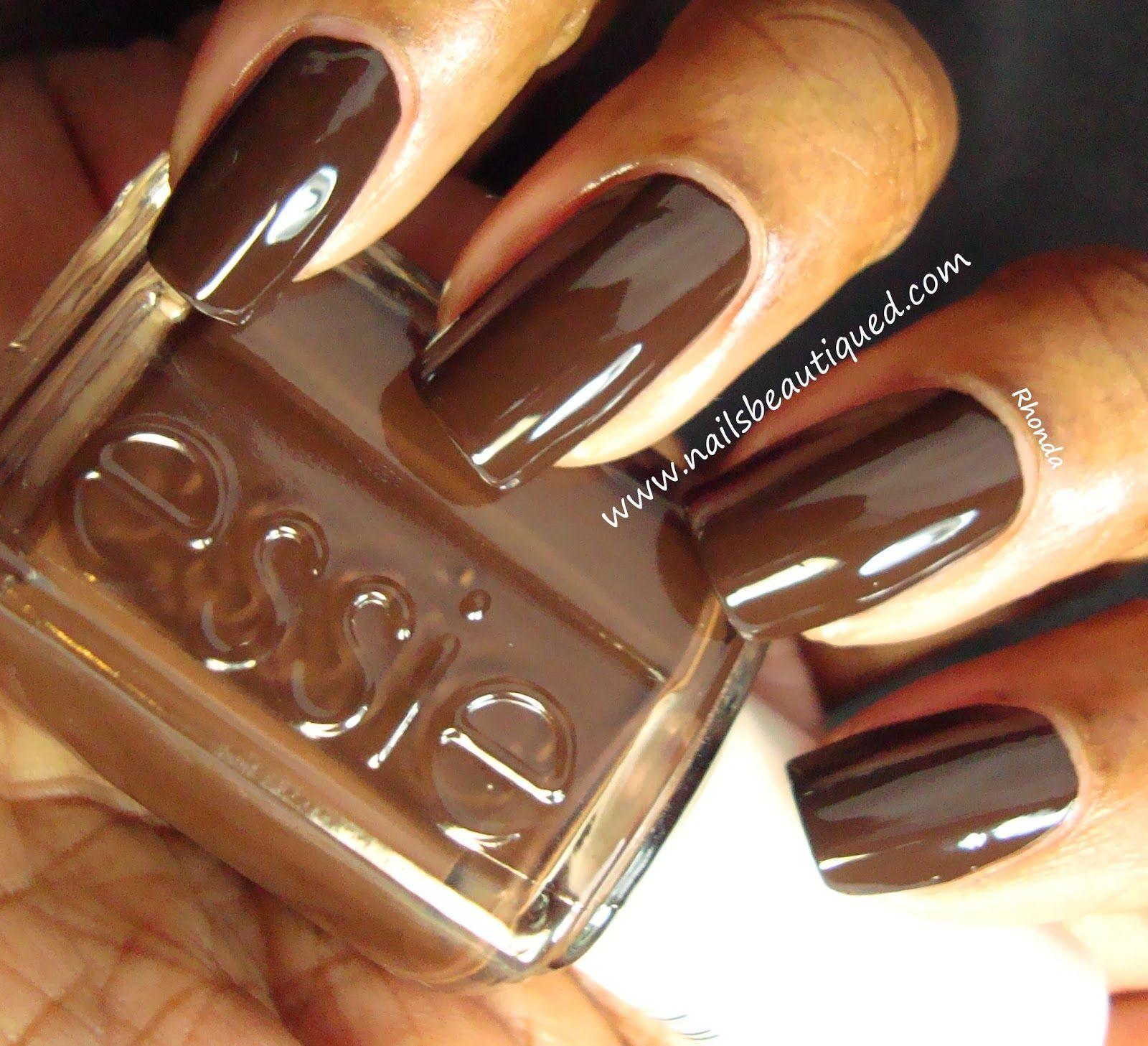 Busy Girl Nails Fall Nail Art Challenge | Week 5: Dark Brown | Nails ...
