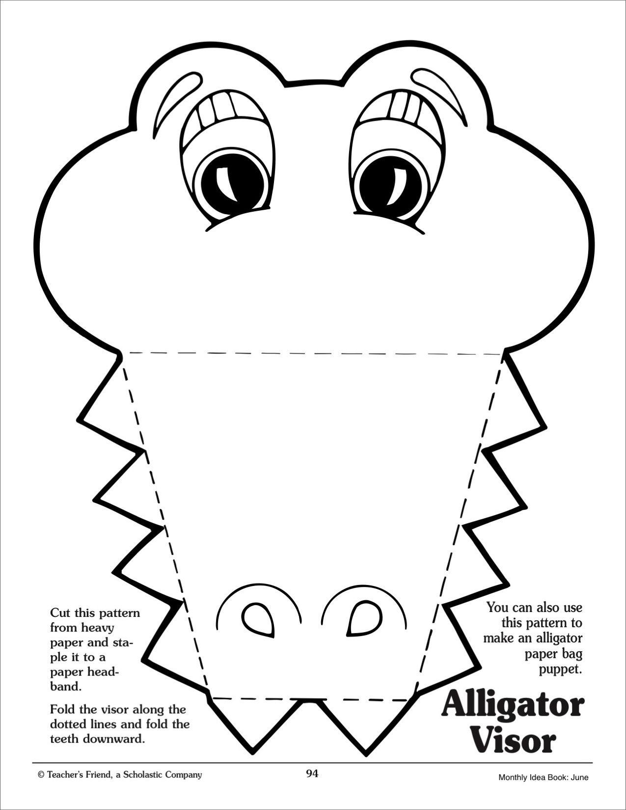 masker krokodil zoeken dieren knutselen