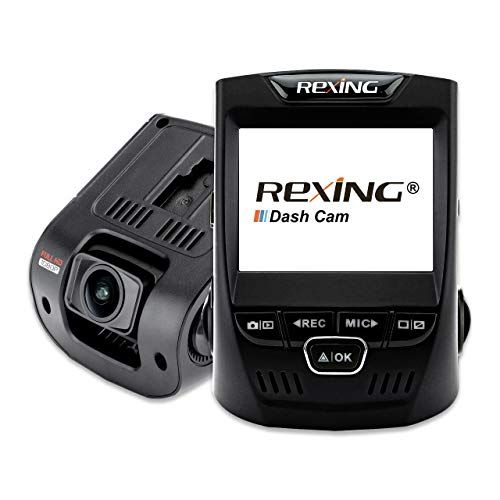 Rexing V1 Wi-Fi Car Dash Cam 2.4 LCD FHD 1080p 170° Wide Angle Dashboard Camera Recorder with G-Sensor, WDR, Loop Recording, Supercapacitor, Mobile App #wideangle