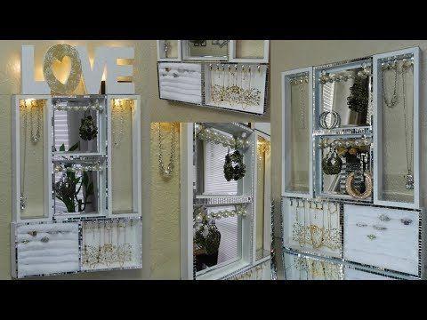 Photo of Dollar Tree DIY handgemachtes Geschenk Glam Jewelry Organizer / Schmuck Display …