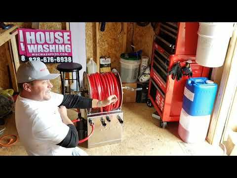 Upgraded 12 Volt Roof Pump Setup Youtube Roof Cleaning Cleaning Gutters Deck Restoration