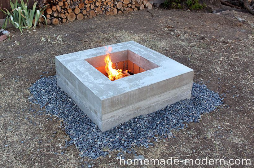 Homemade Modern Diy Concrete Fire Pit Homemade Concrete Fire