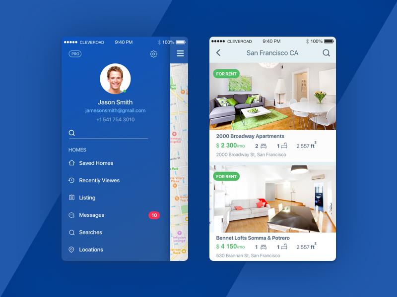 House Rent App Concept App App Design Rent