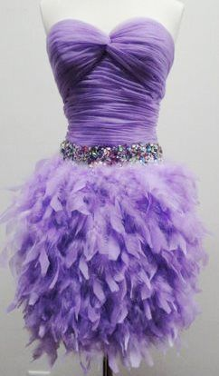 Lilac Latin Dance Costume with Straps  Love this color and love the feathers!
