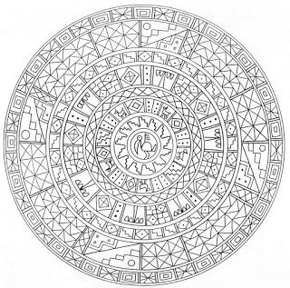 inca mayan south american looking mandala coloring page for adults anti stress relaxing pass time