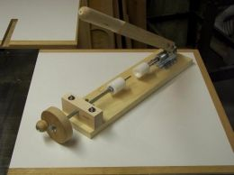 Pen Press - Homemade pen press constructed from plywood, a