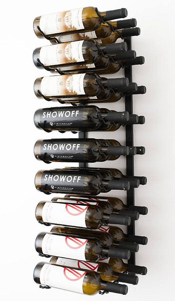 wall mounted metal wine rack. VintageView WS33 - 27 Bottle Wall Mounting Metal Wine Rack 3 Available Finishes Mounted E