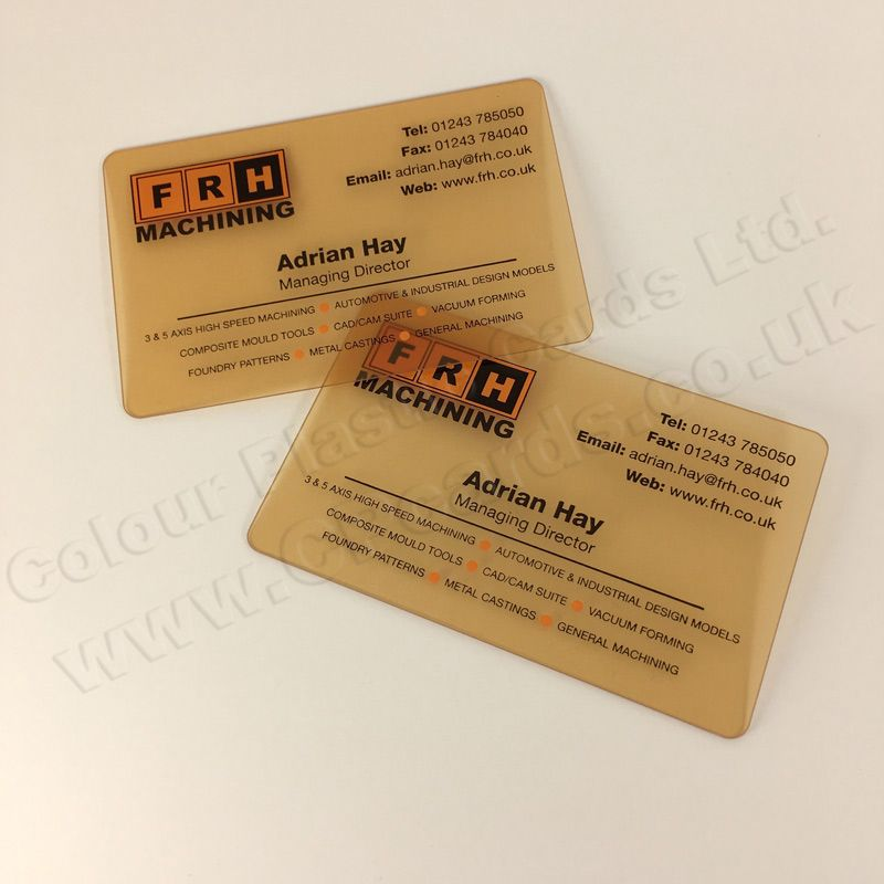 Frosted Translucent Plastic Business Cards We Offer Free Artwork And Free Delivery With Plastic Business Cards Transparent Business Cards Business Card Design