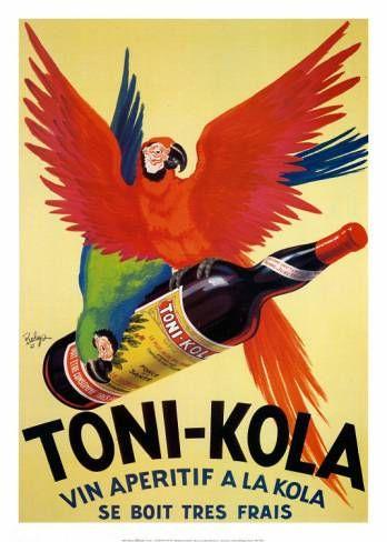 XEREZ QUINA RUIZ RED FLAMINGO BIRD DRINK ALCOHOL CAPPIELLO VINTAGE POSTER REPRO