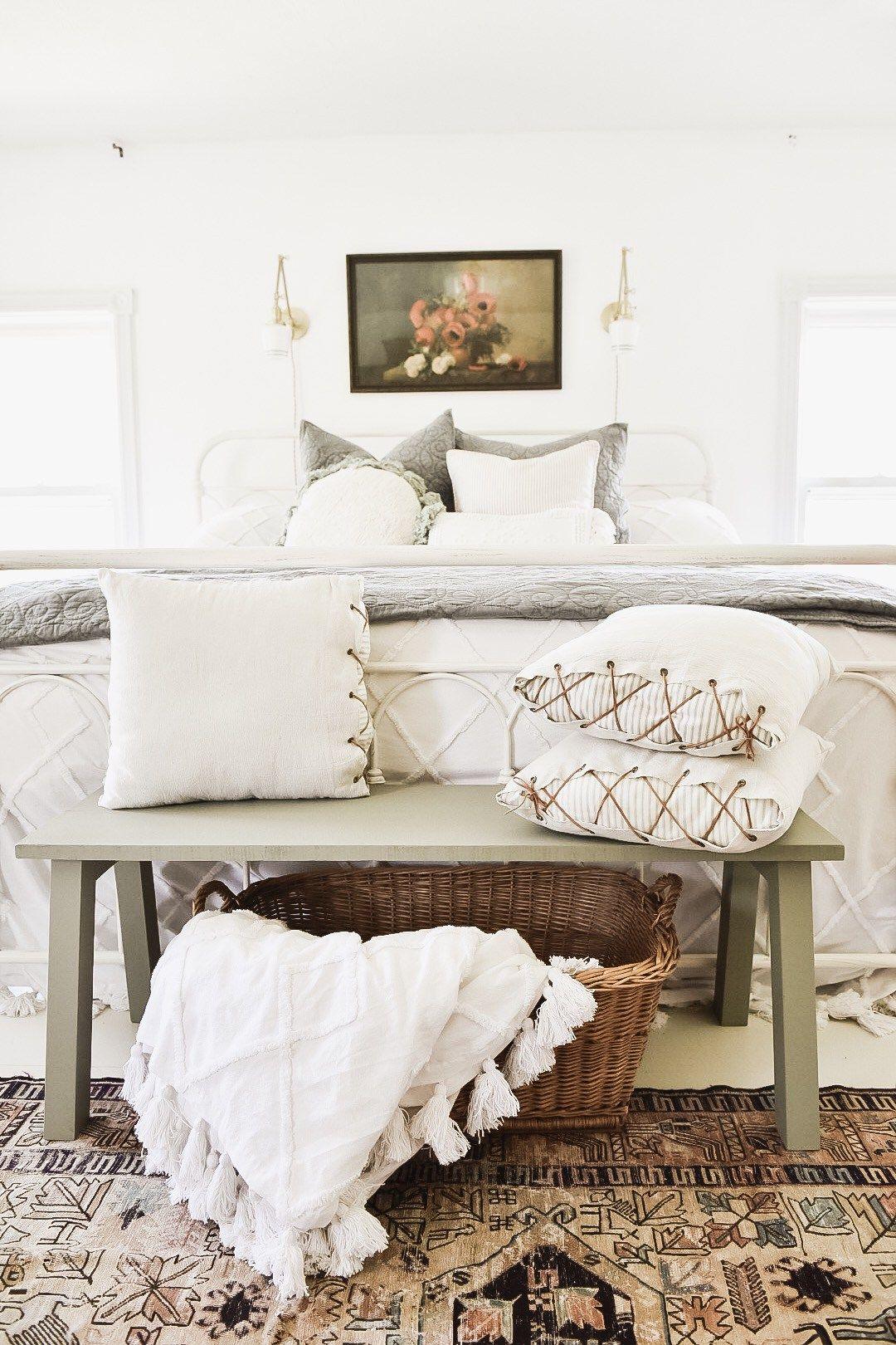 30+ Farmhouse bedroom bench best
