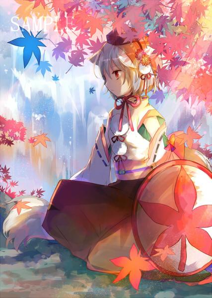 東方 椛 minh họa bởi ズ pixiv anime mua thu