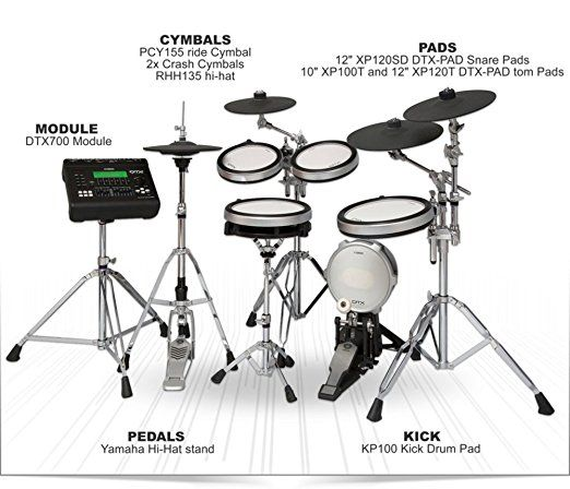 yamaha dtx920hwk electronic drum set with yamaha hardware pack full drum kit drum practice pad. Black Bedroom Furniture Sets. Home Design Ideas