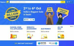 Flipkart Big Billion Days Sale 2016
