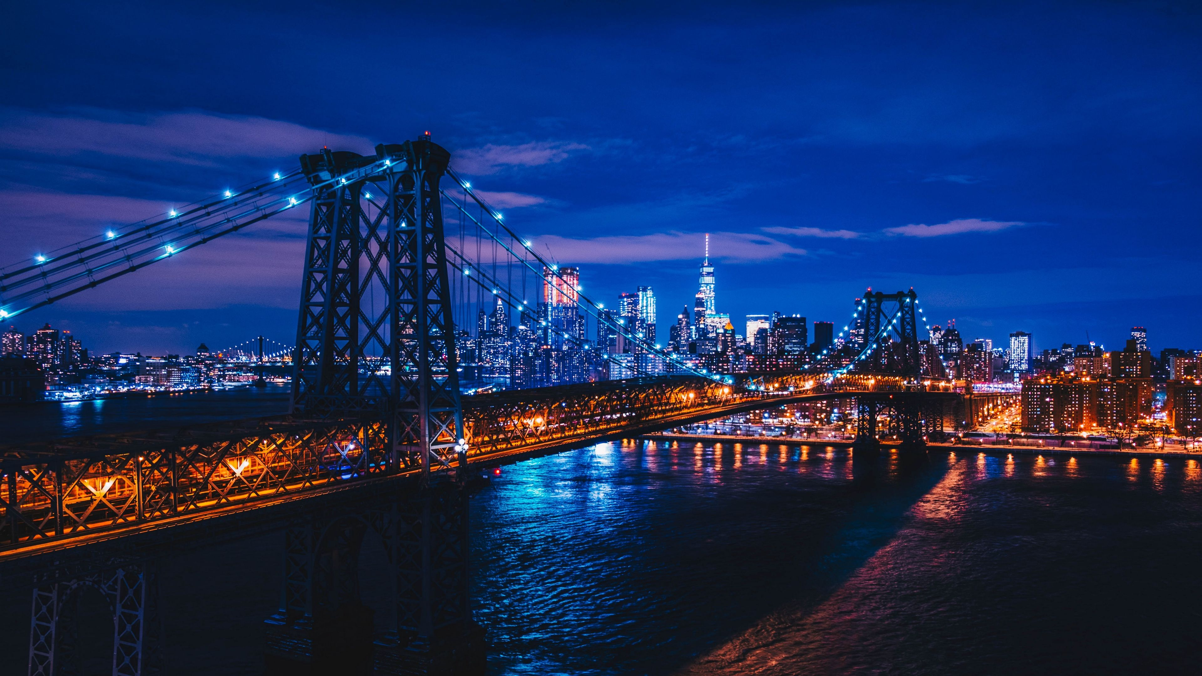 Download wallpaper 3840x2160 new york, usa, night city