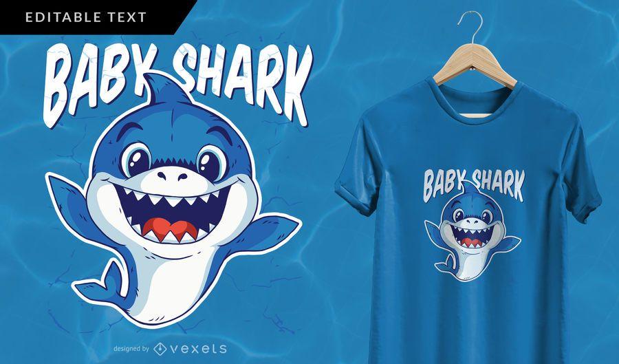 Baby Shark T-shirt Design | Shark t shirt, Shirt design ...