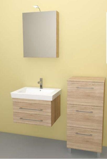 Linea 55 fürdőszoba bútor, mongori tölgy - fürdőszobabútor ...