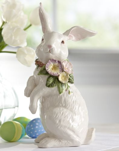 Tulip Bunny Figurine From Through The Country Door East