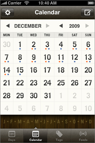 Momento--> Http://itunes.apple.com/us/app/momento-diary-journal