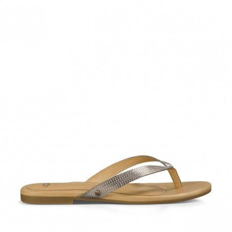Soft Gold Leather Sandal | Allaria II Metallic Braid | Free Shipping on Orders $50+