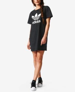 adidas Originals Trefoil T Shirt Kleid Damen