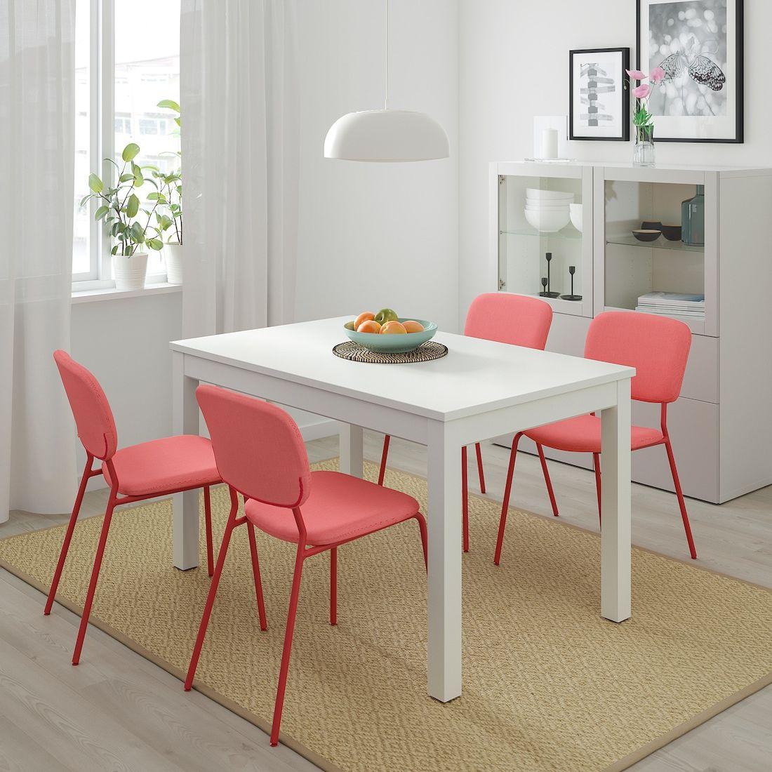 Laneberg Table Extensible Blanc 130 190x80 Cm Table Extensible