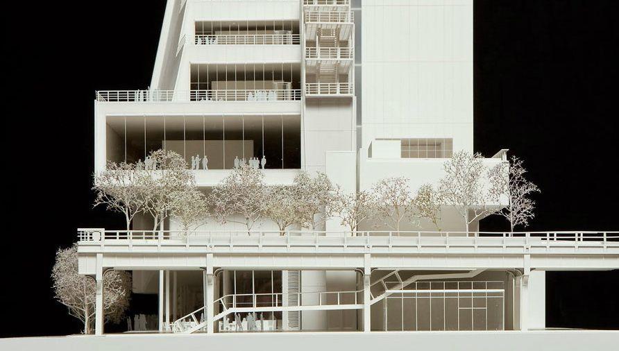 Whitney Museum model Renzo Piano