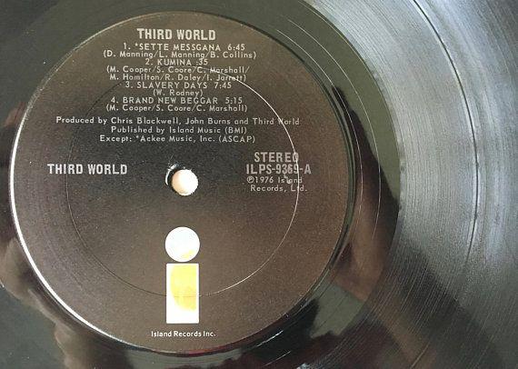 Third World LP Vinyl Record Album, Island Records - ILPS
