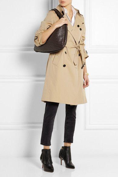 BOTTEGA VENETA elegant Veneta large dark brown intrecciato leather shoulder  bag 206188b072