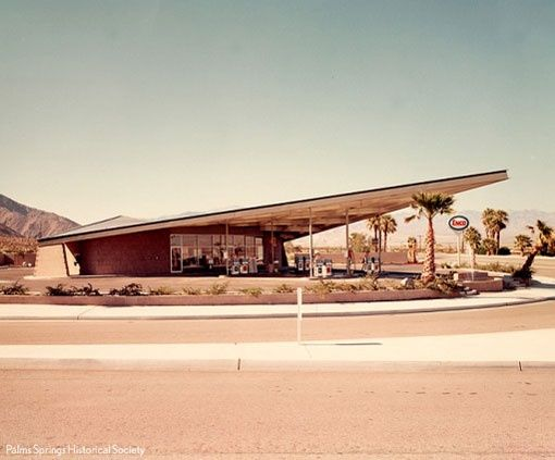 Vintage gas station in Palm Springs ab369bcb9