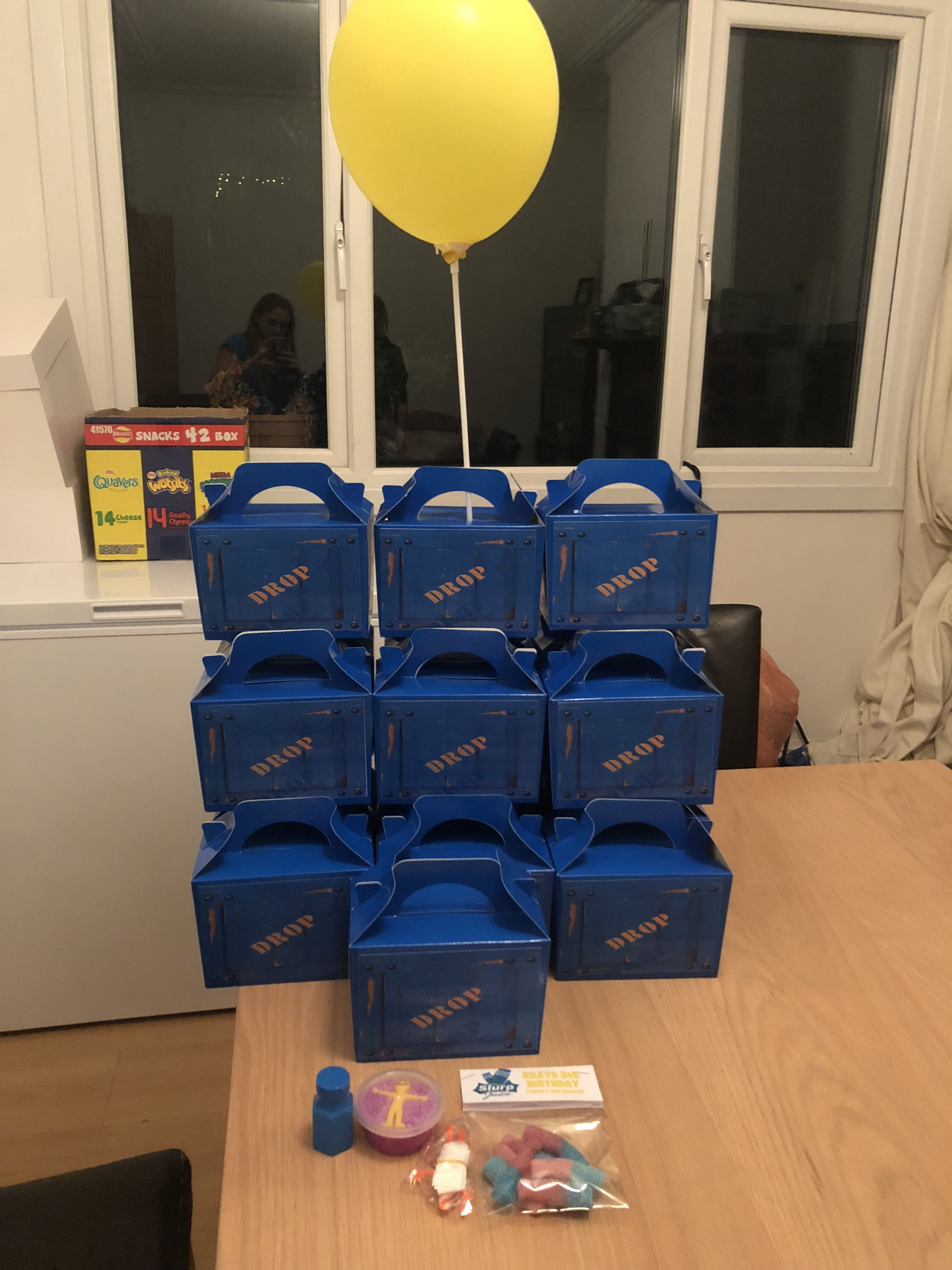 Fortnite Supply Drop Box Party Bags Balloon Partyideas