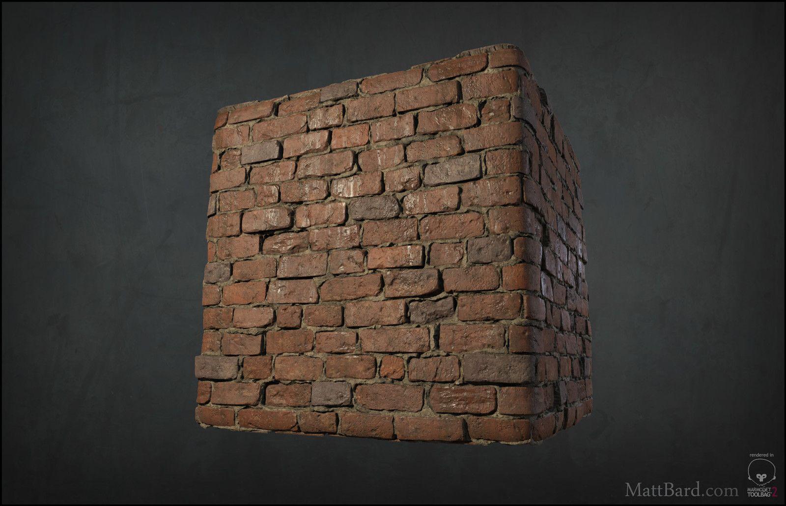 Personal Work - Tileable Red Brick, Matt Bard on ArtStation at https://www.artstation.com/artwork/lNVqk