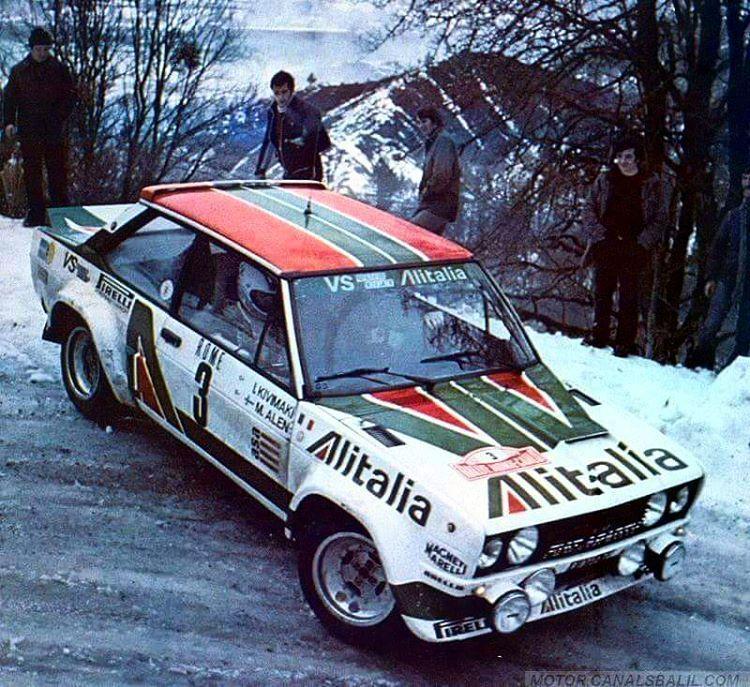 Monte Carlo 1979 Markku Alen Fiat131abarth Rally Car Rally