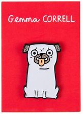 'I Lick You' Enamel Pug Pin Badge - Gemma Correll Cute Gift / Present