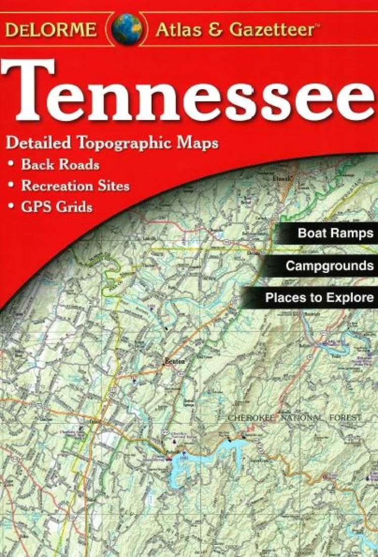 Tennessee Atlas And Gazetteer By Delorme Topographic Map Atlas Back Road