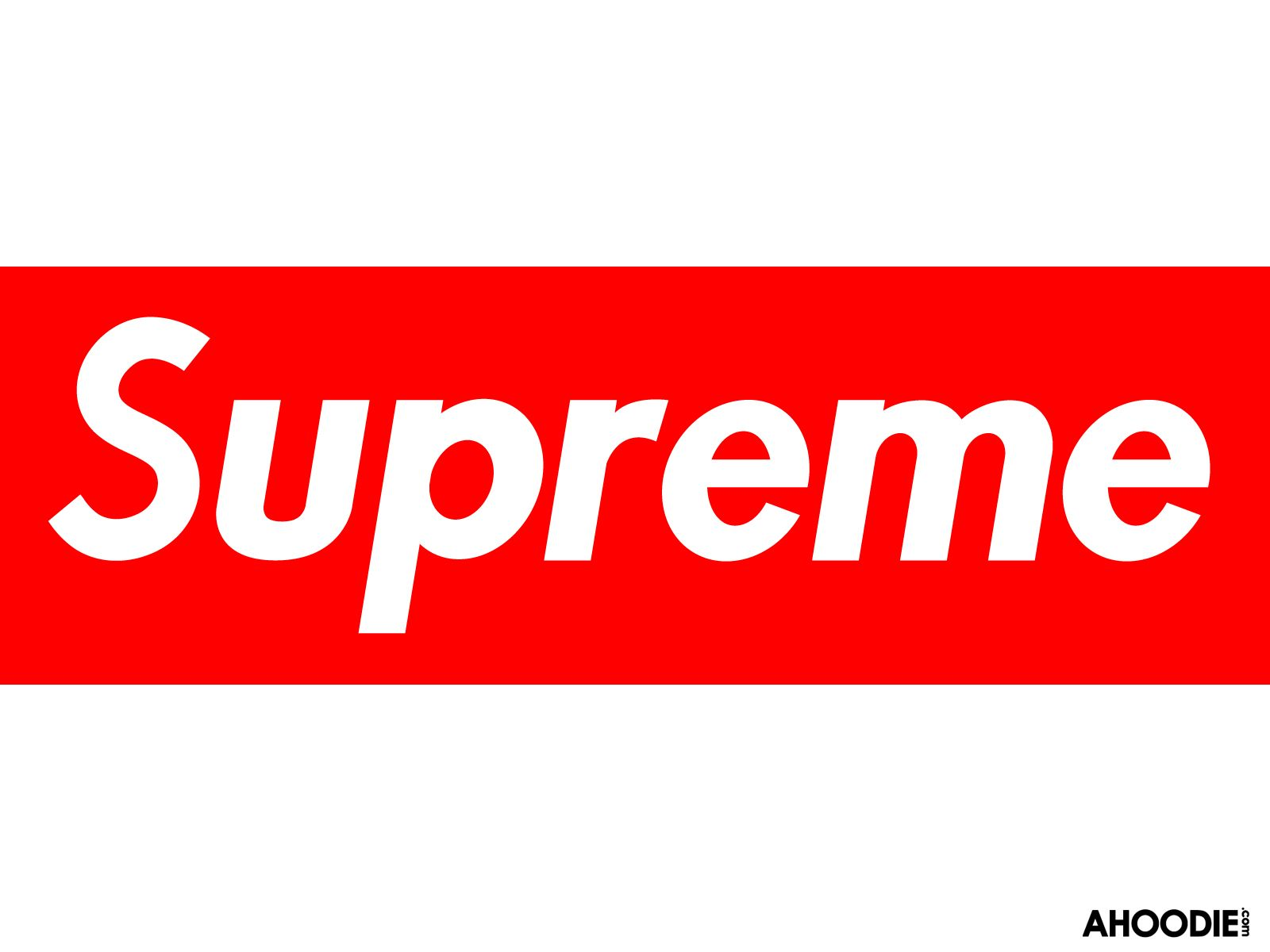 SUPREME RED CLASSIC STICKER BOX LOGO WHITE FREE SHOPPING BAG VINYL DECAL CDG