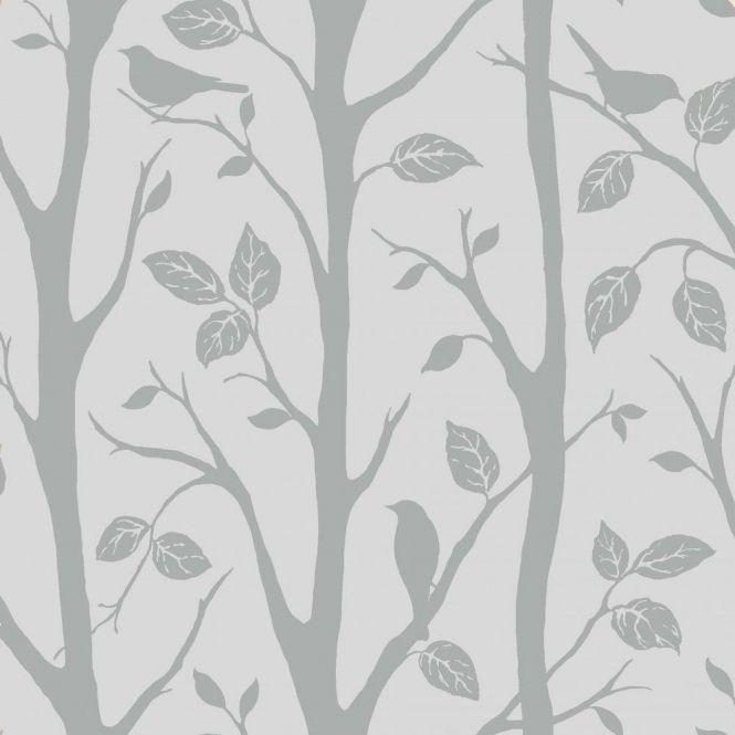 Shimmer Harmony Wallpaper Soft Grey Silver Ilw980052 Tree