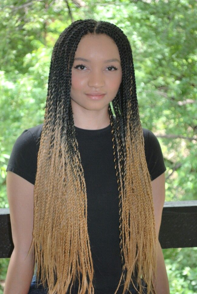 ombre senegalese twists protective