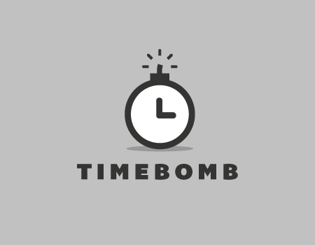 Time Bomb Logo Template By Rod Via Creattica Fresh Logo Design Logo Design Negative Space Graphic Design Logo