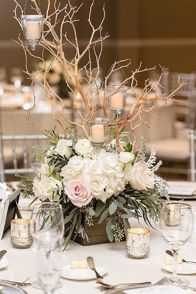 60 DIY Creative Rustic Chic Wedding Centerpieces Ideas ...  Rustic Wedding Decorations Centerpieces