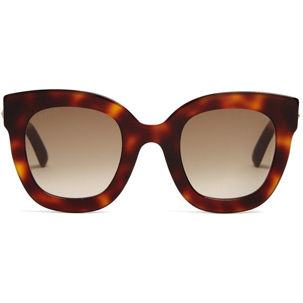 66a1a7ad1ff Gucci Star-embellished square-frame sunglasses ( 268) ❤ liked on Polyvore  featuring