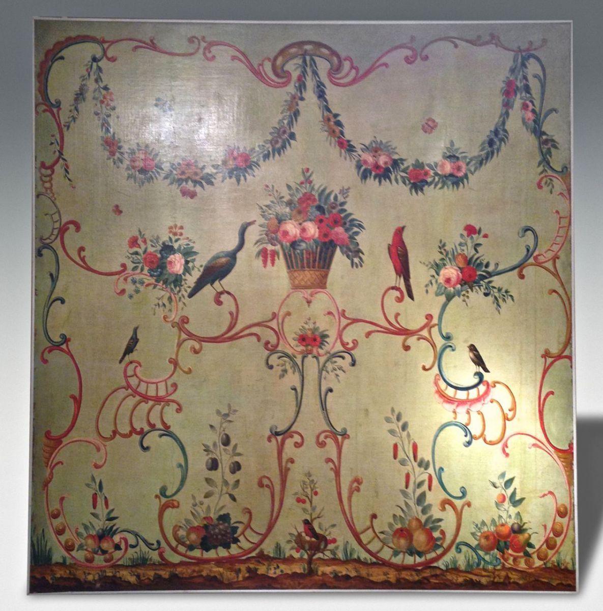 ROCOCO PAINTED PANEL. - Stock - Christopher Jones Antiques - London - Decorative Antiques