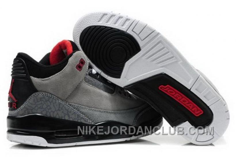 Spain Nike Air Jordan Cemenst 3 Iii Retro Mens Shoes 2012 New Fur Cool Grey
