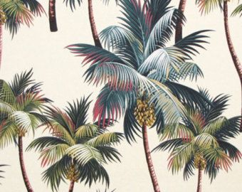 Love This Fabric If You Can Create Your Own Chair Cushions!!! Hawaiian  Fabric Upholstery Palm Trees Home And Office Interior High Quality Cotton  Bark, ...