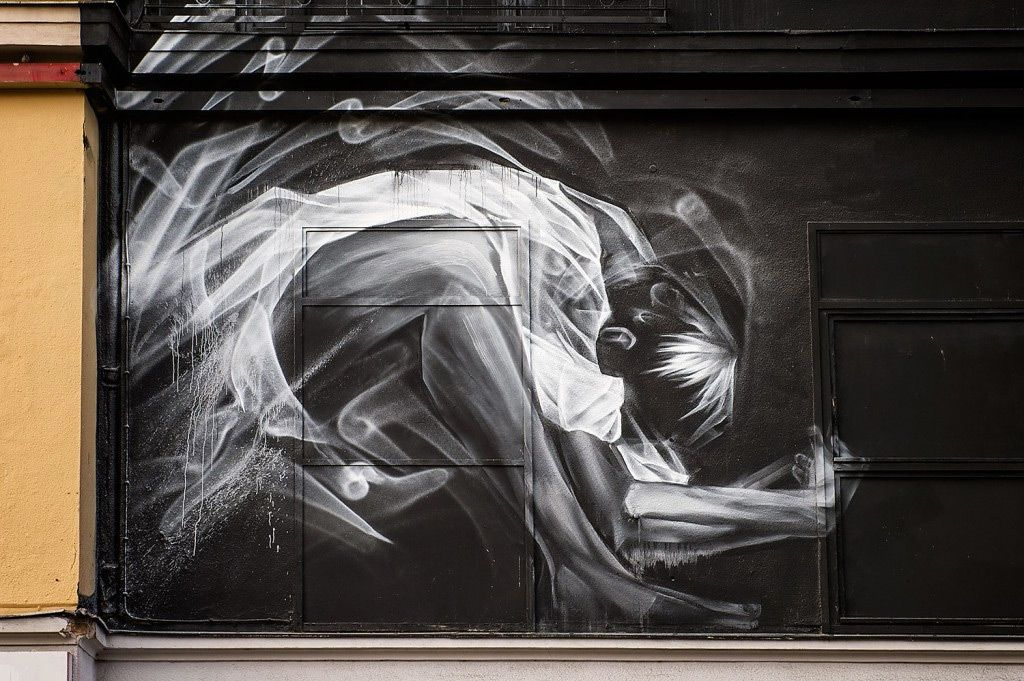Li Hill S Large Scale Murals Resemble Ghostly Projections Of