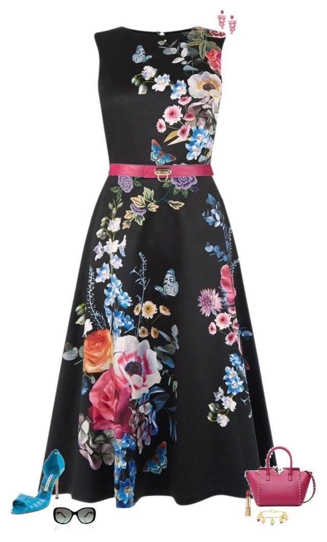 """Floral beauty"" by julietajj on Polyvore featuring Oasis, Manolo Blahnik, Valentino, Yochi, Bulgari, Dolce&Gabbana and Aurélie Bidermann"
