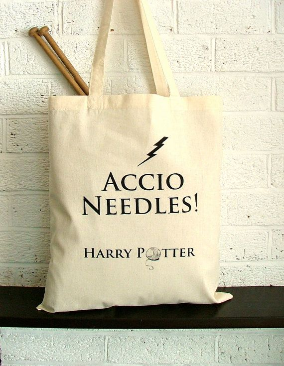 Large knitting project bag Harry Potter by KellyConnorDesigns, I ...