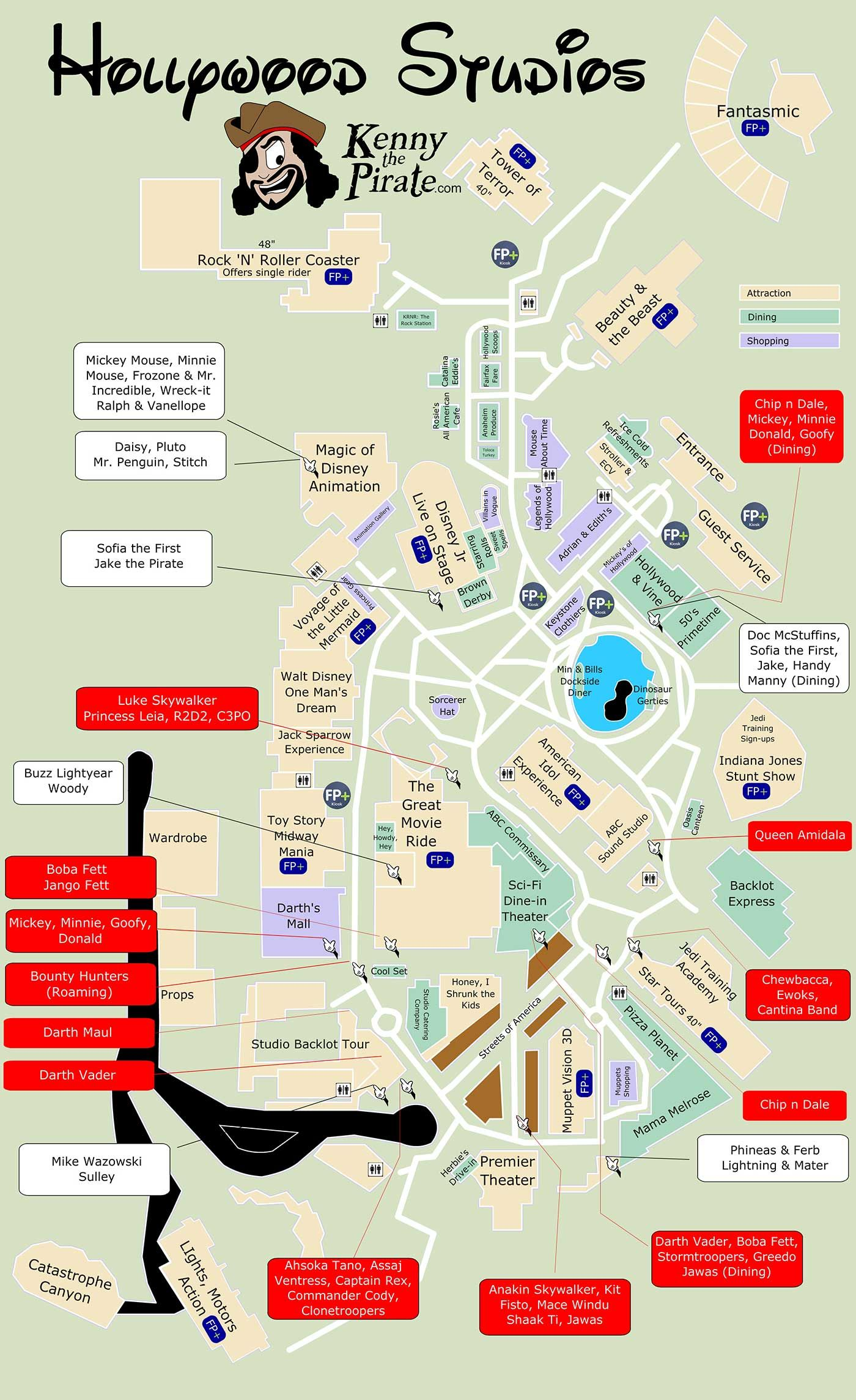 Star Wars Weekends Map and Characters | Happiest Place on Earth ...