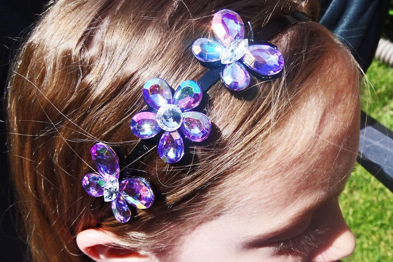 Beautiful irredescent Purple Butterfly/flower by JulietsJems, $6.00