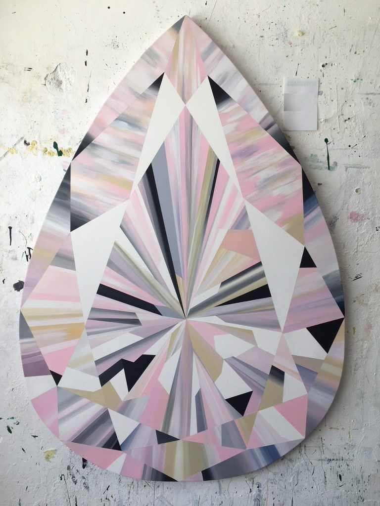 Kurt Pio Gemstone Art Diamond Drawing Crystal Drawing